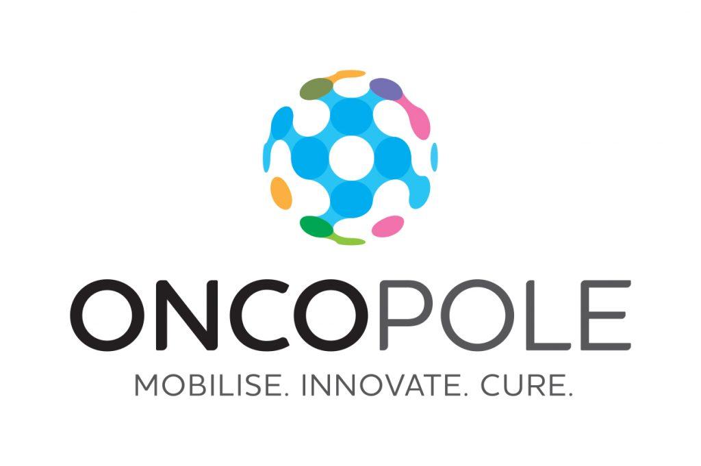 Logo Oncopole vertical avec slogan FR